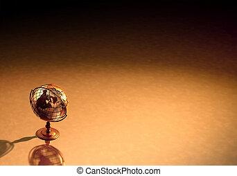 античный, земной шар, задний план