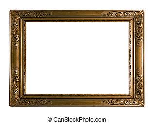 античный, рамка, картина