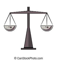 античный, символ, баланс, isolated, вес
