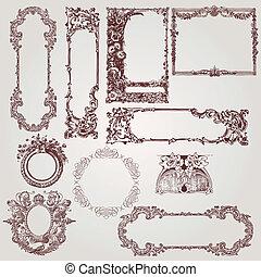 античный, frames, викторианский