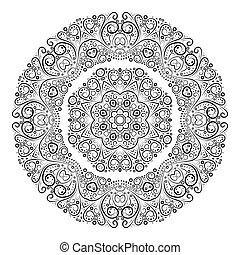 античный, illustration., марочный, орнамент, background., вектор