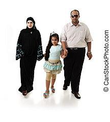 арабский, белый, гулять пешком, семья