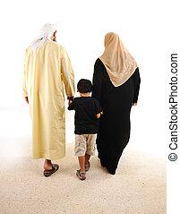 арабский, мусульманка, гулять пешком, семья