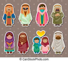 арабский, stickers, мультфильм, люди