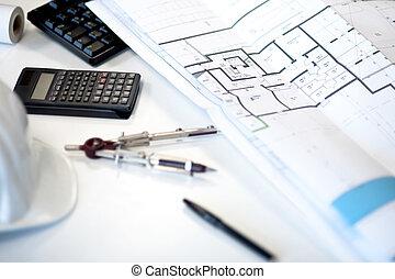архитектор, стол письменный