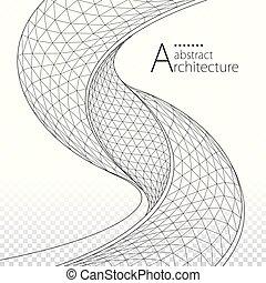 архитектурный, здание, дизайн, задний план, абстрактные