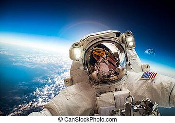 астронавт, пространство, outer