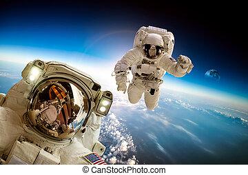 астронавт, outer, пространство