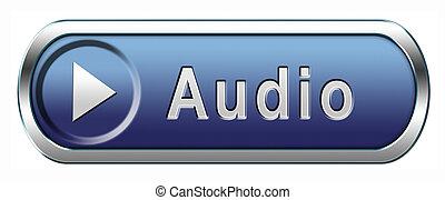 аудио, значок