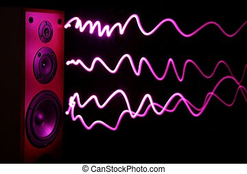 аудио, оратор, эффект