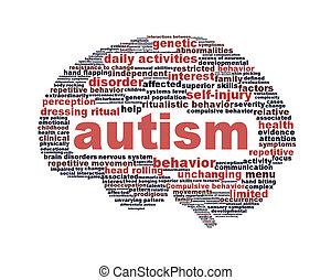 аутизм, символ, isolated, дизайн, белый