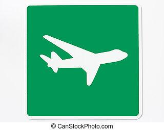 аэропорт, дорога, знак