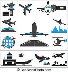 аэропорт, значок