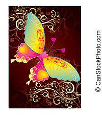 бабочка, люблю