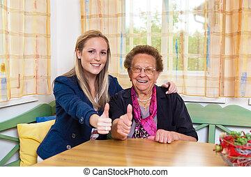 бабушка, внук, visits