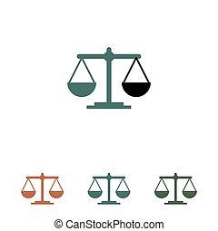 баланс, белый, значок, isolated, задний план