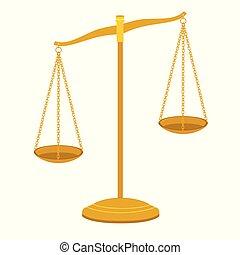 баланс, вектор, масштаб