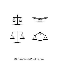 баланс, значок