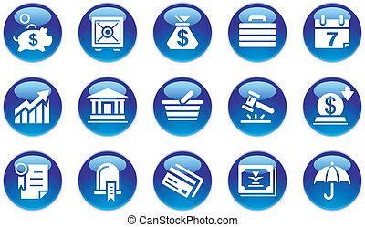 банковское дело, задавать, &, бизнес, icons