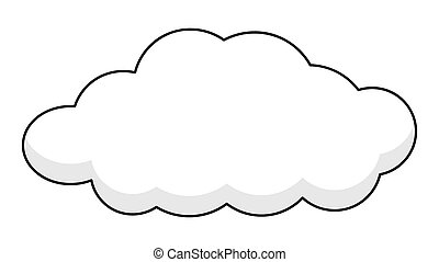 баннер, ретро, облако