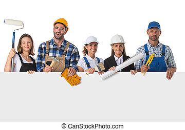 баннер, workers, промышленные, группа