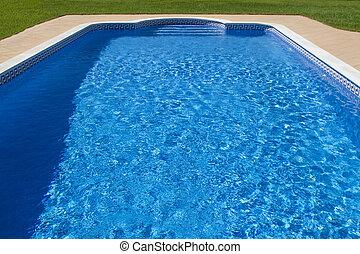 бассейн, большой, плавание, роскошный