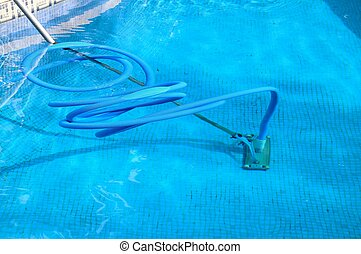 бассейн, spain., уборка, оборудование