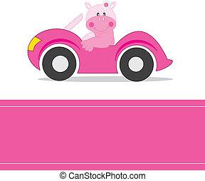 бегемот, driving, автомобиль