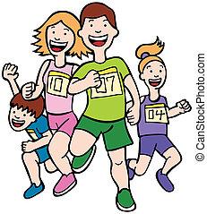 бег, изобразительное искусство, семья