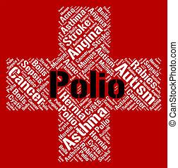 бедные, полиомиелит, indicates, здоровье, слово, полиомиелит