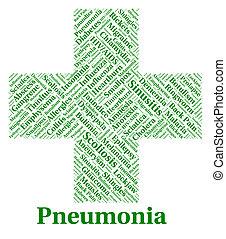 бедные, represents, болезнь, недуг, пневмония, здоровье