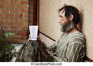 бездомный, человек