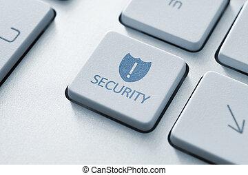 безопасность, кнопка, клавиатура