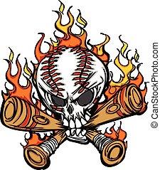бейсбол, флорида, bats, череп, софтбол