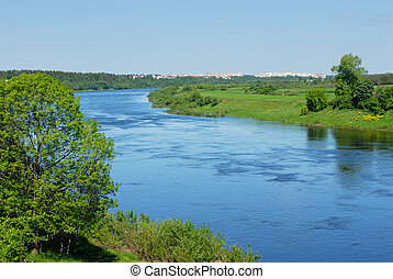 беларусь, река, двина, западный