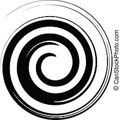 белый, вектор, черный, спираль