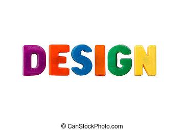 белый, дизайн, isolated, письмо, magnets