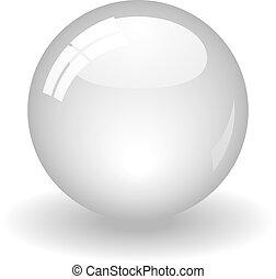 белый, мяч