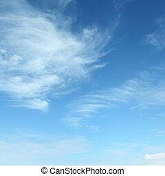 белый, clouds, пушистый