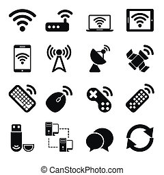 беспроводной, задавать, devices, icons