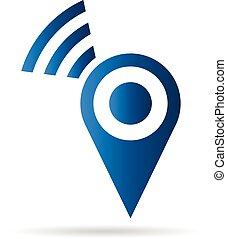 беспроводной, логотип, подключение, место