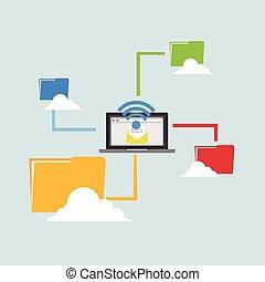 беспроводной, sharing., connection., файл