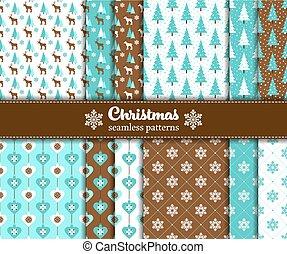 бесшовный, рождество, patterns