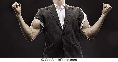 бизнесмен, жизнь, мускулистый, успех, achieving