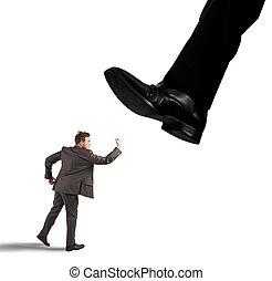 бизнесмен, против, босс