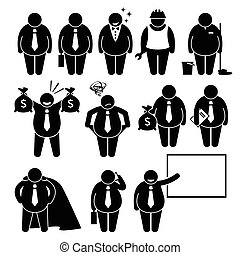 бизнесмен, работник, жир, бизнес, человек