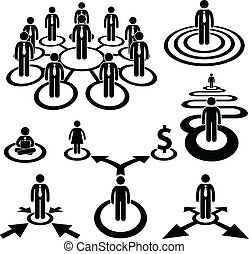 бизнесмен, трудовые ресурсы, бизнес, команда