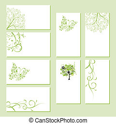 бизнес, ваш, цветочный, задавать, дизайн, cards, орнамент