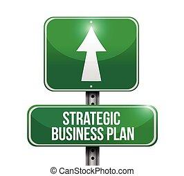 бизнес, иллюстрация, стратегическое, план, знак, дорога