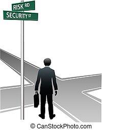 бизнес, решение, выбор, человек, улица, знаки, будущее